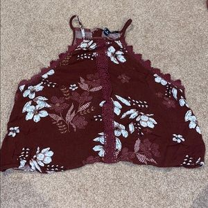 Kendall and Kylie floral crop top